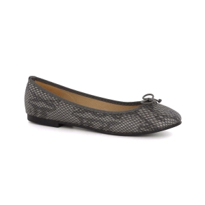 chaussure-femme-ballerine-lezard-gris